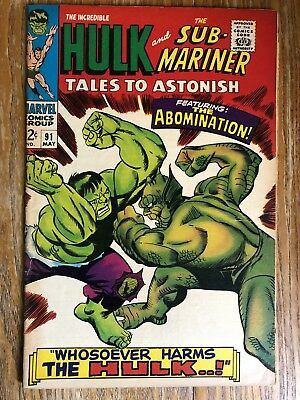 Tales To Astonish 90, 91 Free!! Sub-Mariner Incredible Hulk Marvel Silver Age