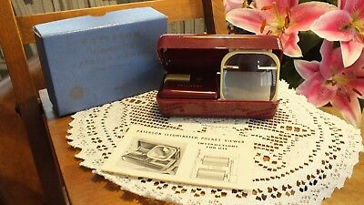 Vintage Paterson Illuminated Pocket Viewer With Instructions In Original Box