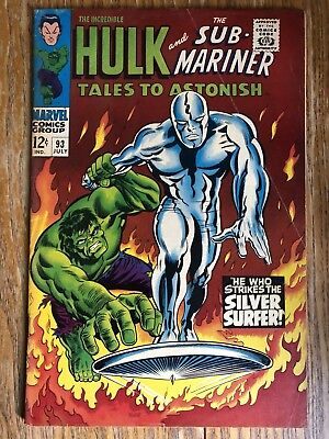 Tales To Astonish 92, 93 Free!! Sub-Mariner Incredible Hulk Silver Surfer Marvel