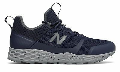 New Balance Men's Fresh Foam Trailbuster Shoes Navy with Grey & Silver Ships free and fast from New Balance