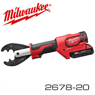milwaukee 2678-20 m18 force logic™ 6t utility crimper tool only w ...
