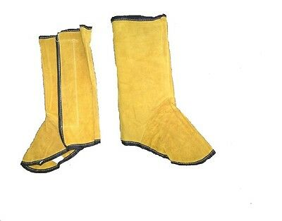 Welding leather protective shoe cover