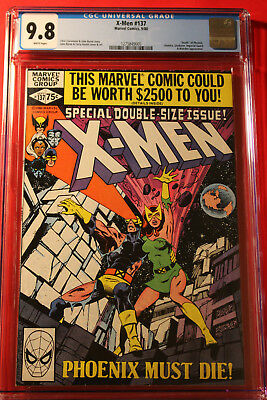 X-Men Issue #137 Cgc 9.8 Nm/mt W Pgs Death Of Phoenix Marvel John Byrne Uncanny