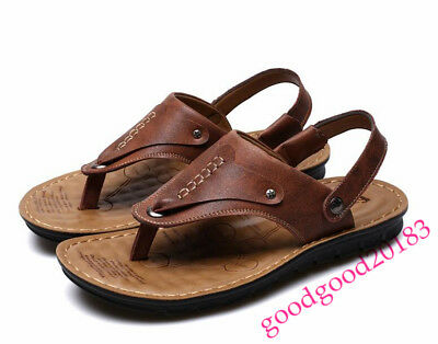 fashion mens flip flops two styles sandals sports beach leisure shoes summer new