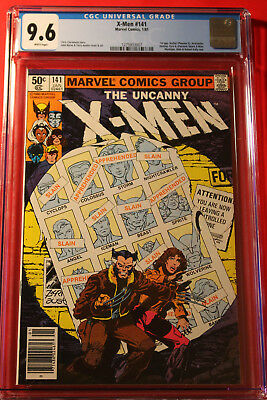 X-Men Issue #141 Cgc 9.6 Nm+ W Pgs Rarer Newsstand Upc Marvel Uncanny John Byrne
