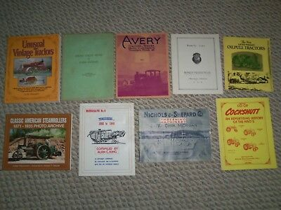 Antique Rumely Avery Advertising Tractors Thresher Farm Machinery Brochure Books