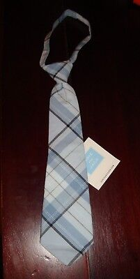NWT Janie and Jack Light Blue Plaid Tie 2T 3T 4T