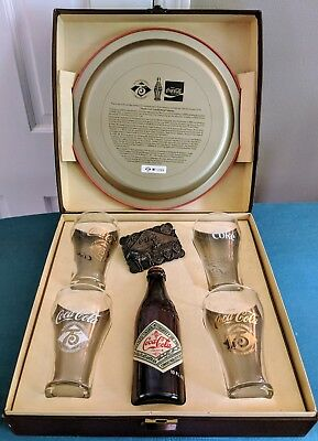 Vintage COCA COLA COKE Limited Edition Numbered set 75TH YEAR ANNIVERSARY