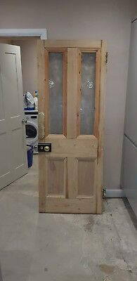 Original Victorian pine glazed door. Vestibule porch internal.