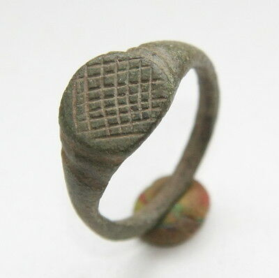 Ancient Medieval Bronze Finger Ring ''FERTILITY FIELD'' (JNR)