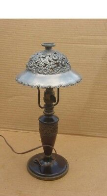 Pairpoint Lamp W/ Shade Signed And Number Under Base Arts Crafts Era Light