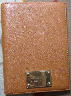MICHAEL KORS Light Brown Small Leather? Book Cover EUC
