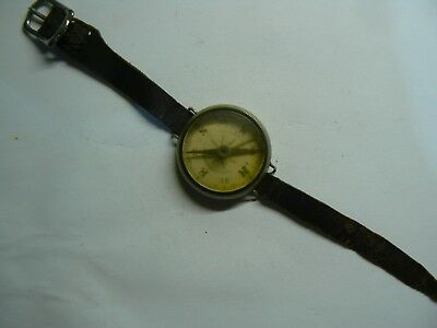 Rare collectible WW1 Military Compass complete with original leather strap