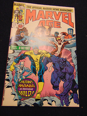 MARVEL AGE # 33 (Marvel Comics, 1985)  Intro/First Appearance X-FACTOR