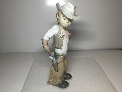 Lladro Sheriff Cowboy Puppet Gloss Finish Figurine 4969