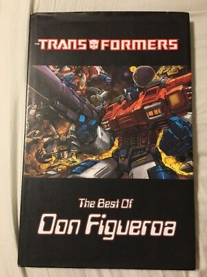 Transformers The Best Of Don Figueroa Oversized Hardcover IDW Signed
