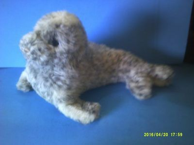 Spotted Light Grey Realistic  Plush Seal Pup