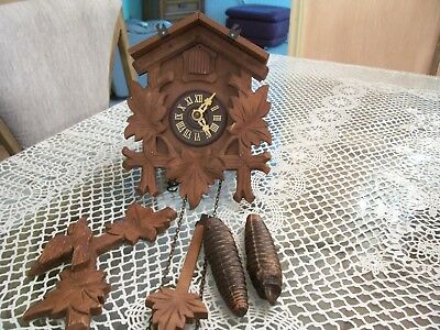 """Vintage Carl Schubner Germany Coo Coo Clock   """" Parts Only """""""