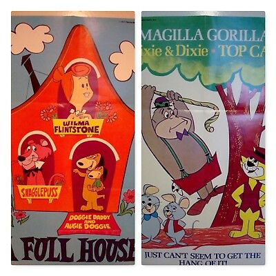 Lot of 2 Hanna Barbera Cartoon Posters 1977 Snagglepuss Top Cat Magilla Gorilla