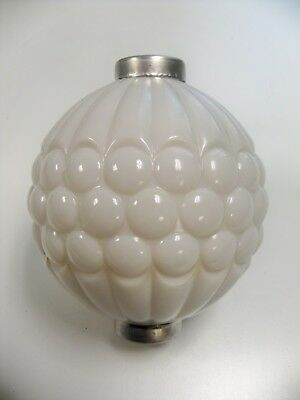 Beautiful Antique WMG Ribbed Grape Lightning Rod Ball with Caps!