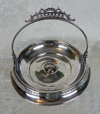 Victorian New Amsterdam Silver Co. Silver Plated Engraved Brides Basket Vintage