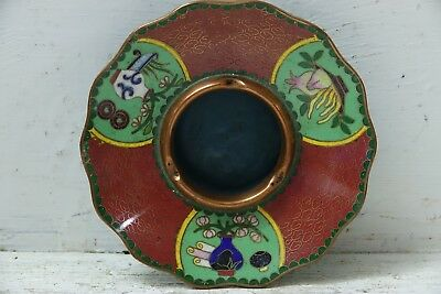 Very Beautiful Cloisonne Bowl Ashtray - Stunning Example - Rare - L@@k