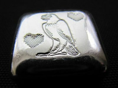 HACMint 2.9 oz 999+ Fine Silver STANDING EAGLE Hand Poured ART BAR