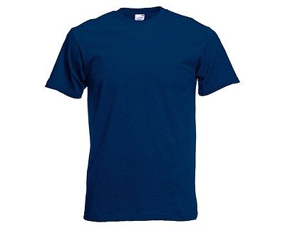 Fruit Of The Loom 5 Pack Plain Navy T Shirt Tee Shirt (M To 4Xl) Unisex Bargain