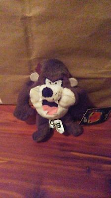 Taz 1999 Warner Brothers Studio Store Looney Tunes Tasmanian Devil mini bean bag
