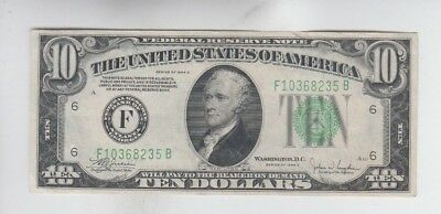 Federal Reserve Note $10 1934-C  vf