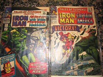 Tales of Suspense 73 74 VG F marvel silver comic estate lot 99 NR