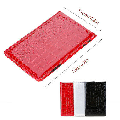 Golf Score Counter Card Holder PU Leather Score Wallet Yardage Book Pocketbook
