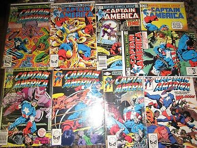 Captain America 270-280 VF marvel bronze comic estate lot of 9 99 NR