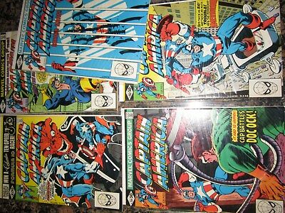 Captain America 259-263 VF NM full run marvel silver comic estate lot 99 NR