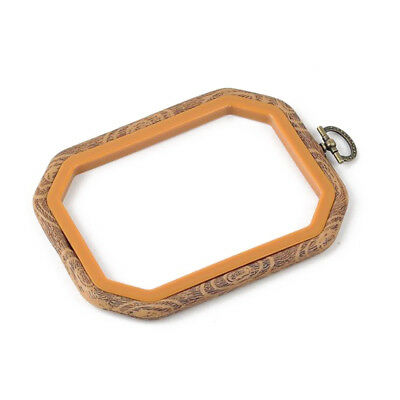 Practical Cross Stitch Machine Bamboo Frame Embroidery Hoop Ring Hand DIY N O6D6
