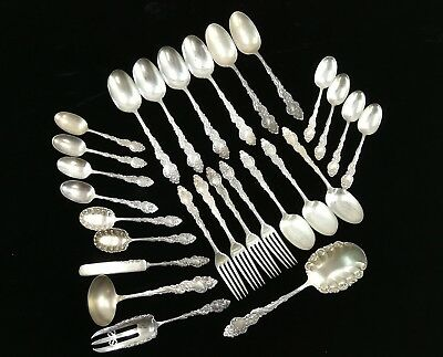 Lot of 27 Pieces of 1847 Rogers A1 Columbia 1893 Silverplate Flatware No Reserve