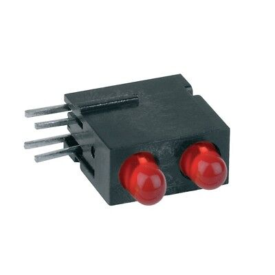 1x 1801.2231 Diode LED in housing 3mm THT red 1.2-4mcd 60° diffused red MENTOR