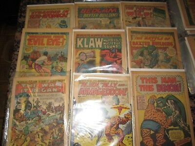 Fantastic Four 99 101+ themed coverles marvel comic silver estate lot of 9 99 NR