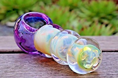 "4.5"" Collectible Tobacco Glass Pipe Smoking Herb Bowl Hand Pipes Gift A1"