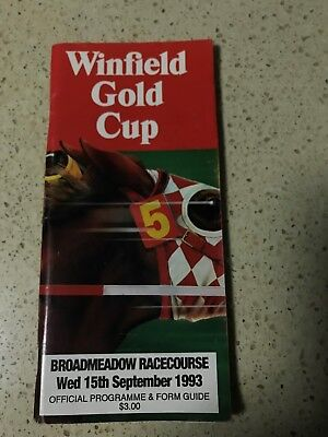 1993 Newcastle Gold Cup Racebook