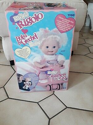 Tyco Baby Giggles ' n Go Vintage Puppe noch alles verpackt,unbenutzt