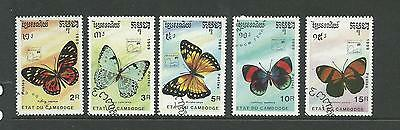 1989 Butterflies Brasiliana 89 Part Set of 5 Used SG 1028 - 1032 Nicely Used