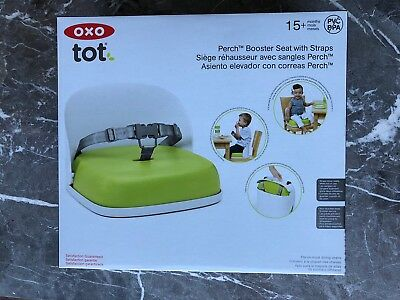Oxo Tot Perch Booster Seat With Straps, Green, Used two weeks, RRP£40