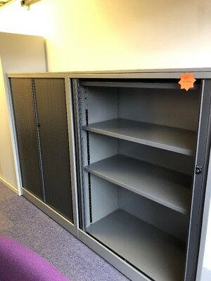 AHREND Tambour Office Storage Cupboards 1320mm High (17 In Stock) £89 Each