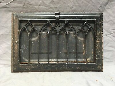 Vtg Stamped Steel Wall Heat Grate Register Vent Gothic 7x12 Old 232-18E