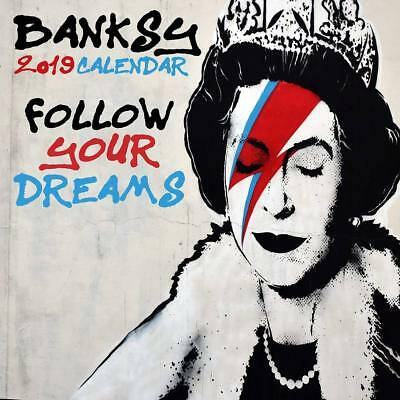 Banksy - 2019 Calendar - Follow Your Dreams (Includes Free Poster)