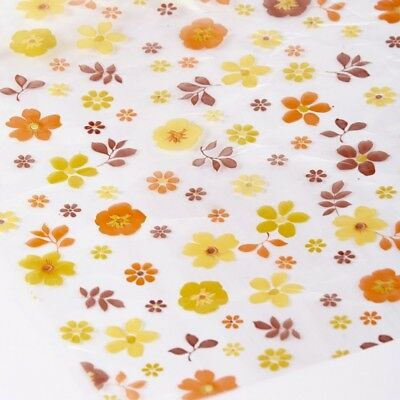 ORANGES AUTUMN FLOWERS CELLOPHANE FILM Clear Plain Florist Gift Hamper Wrap Roll