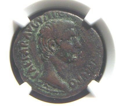 Roman AE As of Emperor Augustus, struck 19-4 BC  NGC Certified  4008