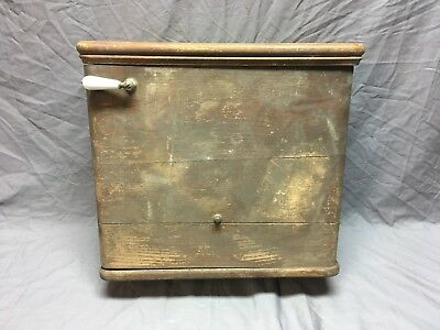 Antique Oak Toilet Wall Mount Tank Lid Old McDonald Plumbing 235-18E