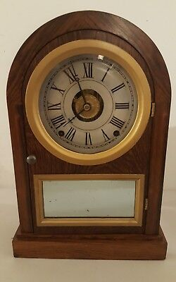 Antique Working 1877 Restored SETH THOMAS Mantel Shelf Clock with Lyre Movement
